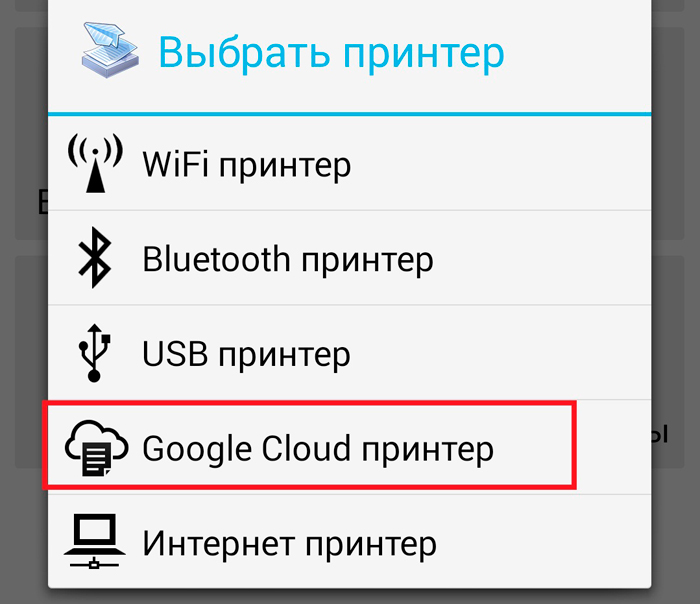 Google Cloud принтер